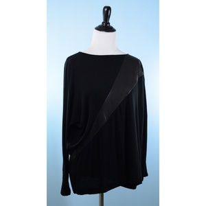 Alice + Olivia Sweaters - ALICE AND OLIVIA black leather Detail sweater